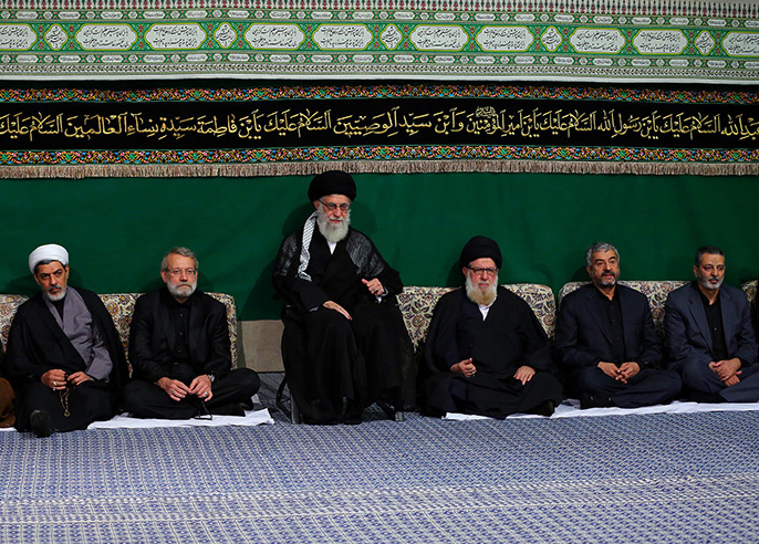 Mourning ceremony in the month of Muharram held in Husseiniah Imam Khomeini