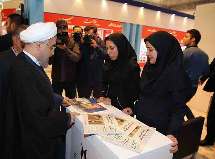 President Rouhani visits 22nd Press Expo