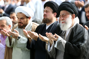 Eid Al-Fitr prayers led by the supreme leader of Islamic Revolution