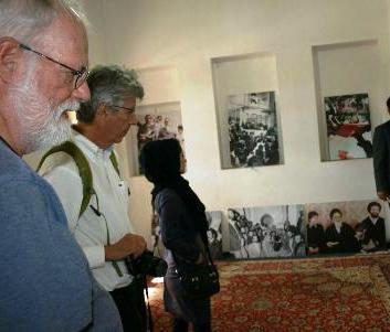 Danish tourists visit Imam Khomeini's ancestral house