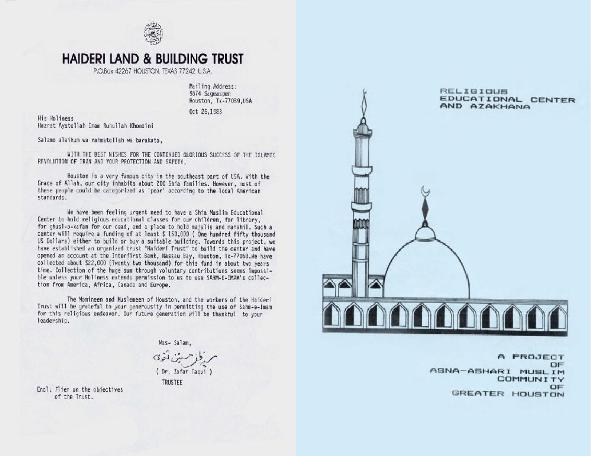 Founding an Islamic center in Huston