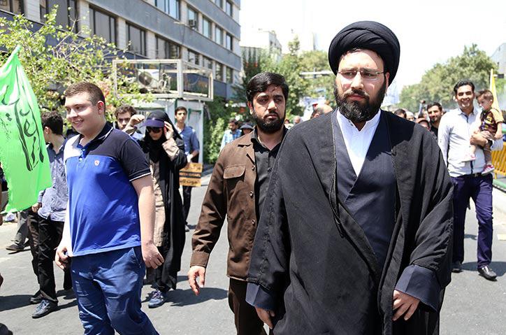 Imam Khomeini`s Grandson participates in Al-Quds Rallies