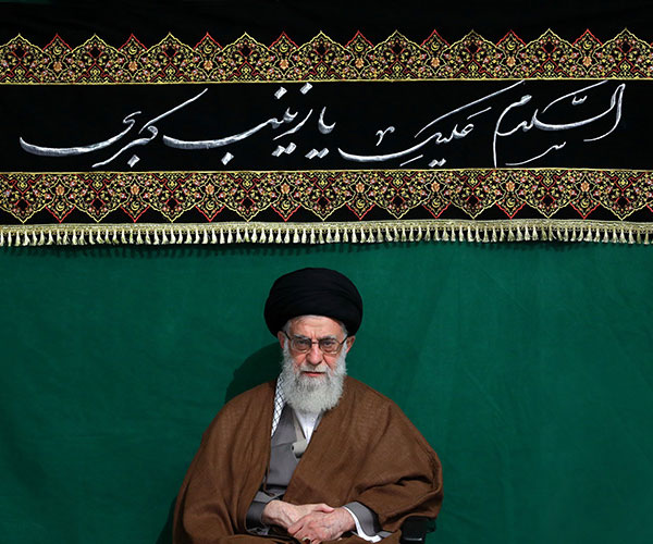 Arba`een mourning ceremony held with presence of the leader of Islamic Revolution Ayatollah Seyyed Ali Khamenei