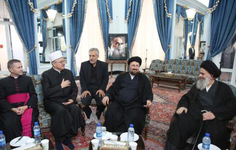 A delegation of prominent Croatian religious leaders meets Ayatollah Hassan Khomeini