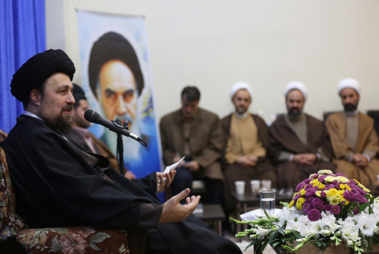 Ayatollah Seyyed Hassan Khomeini meets members of cultural  councils