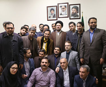 Seyyed Hassan Khomeini holds meeting with media men