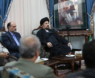 Minister of culture meets Seyyed Hassan Khomeini