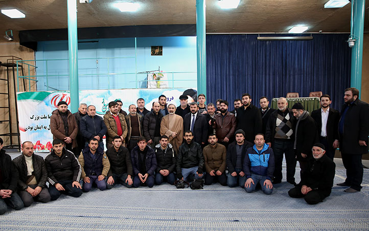 Hussainiyah of Jamaran visited by academics from Dagestan