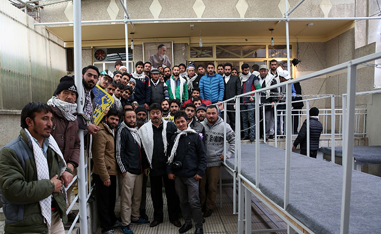 students from India and Pakistan visiting Imam Khomeini`s holy shrine
