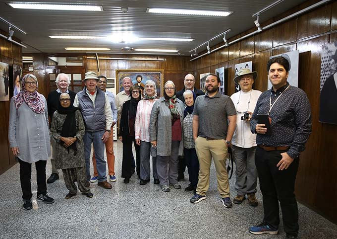 Foreign tourists pay a visit to Imam Khomein`s residence in Jamaran