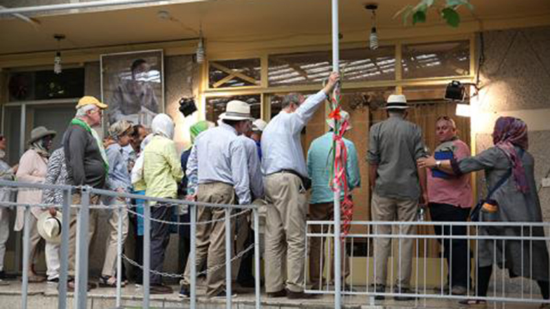 Tourists paying a visit to Jamaran art gallery