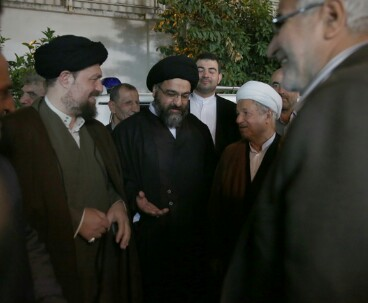 Hassan Khomeini, Rafsanjani meet Friday prayer leader