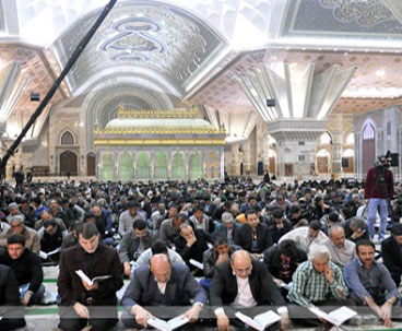 Quranic recitation session held at Imam Khomeini shrine