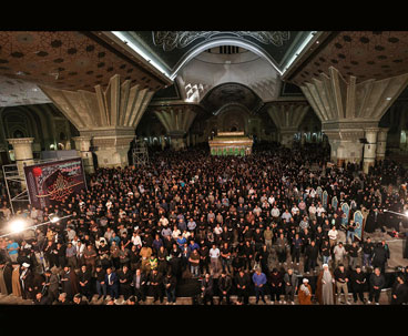 Spiritual ceremonies at Imam Khomeini shrine