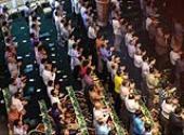 Eid Al-Fitr prayers performed at Jamaran grand mosque