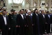 President Rouhani and his cabinet at Imam Khomeini's holy shrine