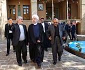 President visits Imam Khomeini's ancestral house