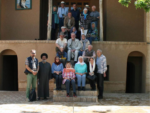 German tourists in Imam's simply-built residence in Khomein