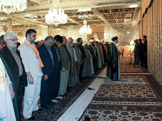 Foreign guests from various parts of the world visiting Mashhad for pilgrimage