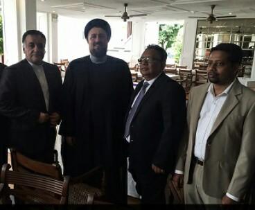 Hassan Khomeini meets Sri Lankan minister for Muslim affairs