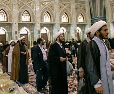 People at Imam Khomeini's mausoleum on Election Day