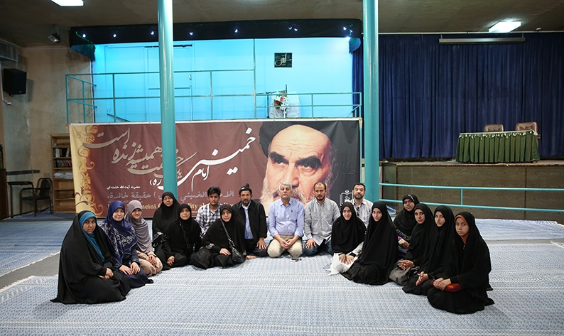 A group of Thai Shia Muslims visiting Imam Khomeini`s historic house in Jamaran
