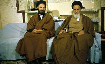 Imam Khomeini and His son, Sayid Ahmad