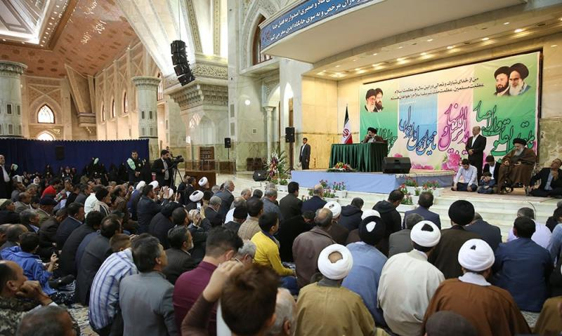 A ceremony has been held at Imam Khomeini's mausoleum to mark Nowruz which commences the beginning of new Persian year.