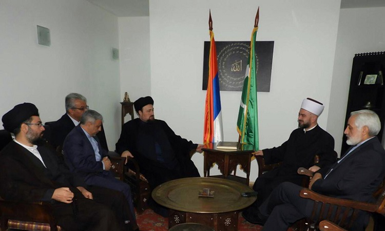 Seyyed Hassan khomeini meets religious leaders in Serbia