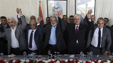 Rival Palestinian factions kicked off reconciliation talks