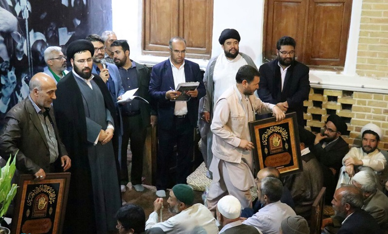 Appreciation of Afghan religious delegation at Imam Khomeini`s historic residence with presence of Seyyed Ali Khomeini