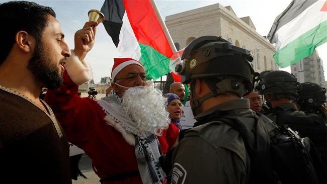Protesters stage anti-Israeli rallies, Israeli forces raid birthplace of Jesus on Eve of Christmas in Bethlehem