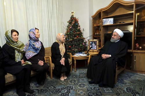 Iranian president meets families of Christian martyrs on Christmas Eve