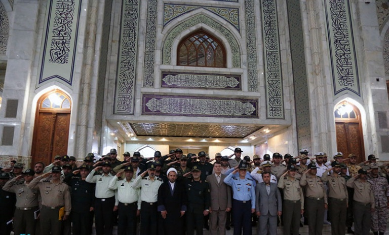 Members of armed forces renew allegiance to Imam Khomeini's ideals