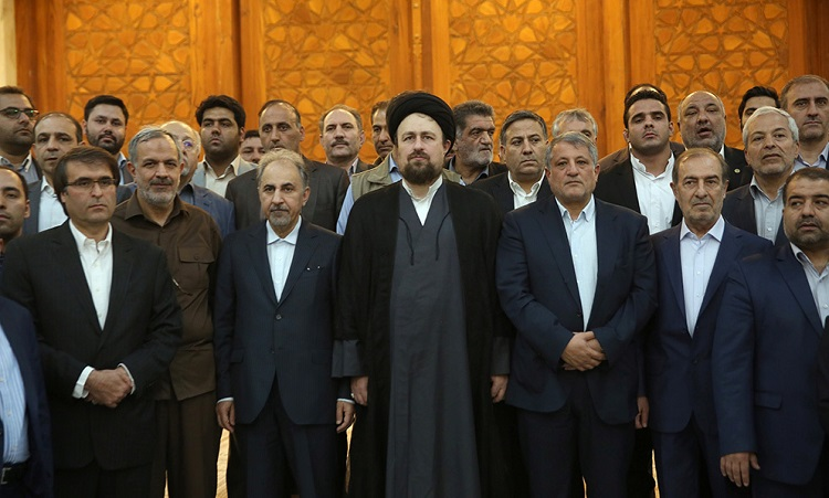 Tehran's new mayor and members of the city council meet Seyyed Hassan Khomeini and pay tribute to Late Imam Khomeini