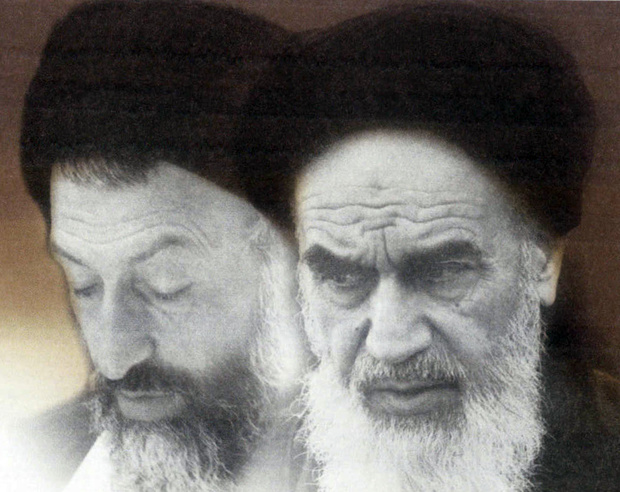 Imam Khomeini and martyr Beheshti in pictures
