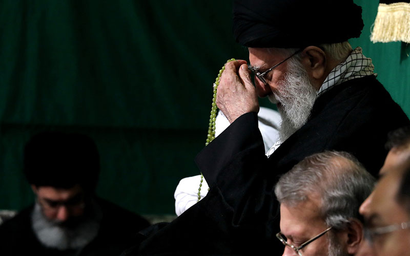 Mourning ceremony for Hadrat Zahra (PBUH) with presence of leader of Islamic Revolution Ayatollah Seyyed Ali Khamenei