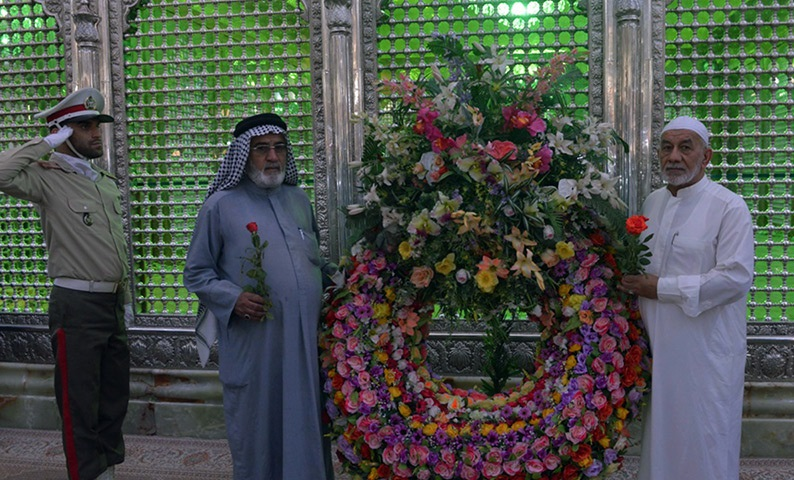 Families of Iraqi martyrs pay tribute to Imam Khomeini