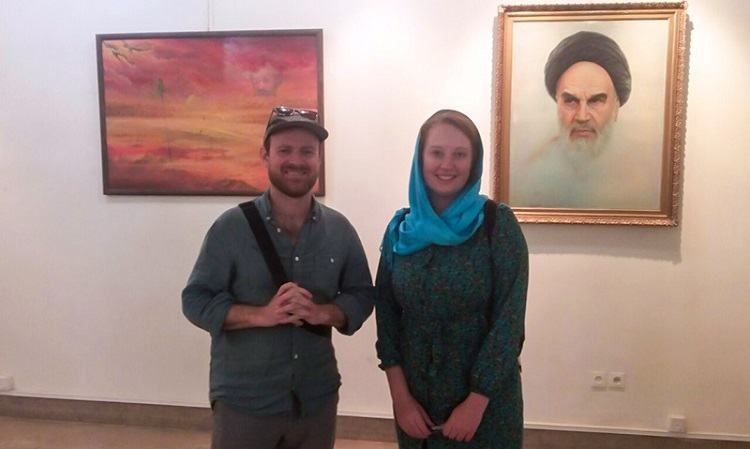 Australian couple visits Imam Khomeini's center in Isfahan