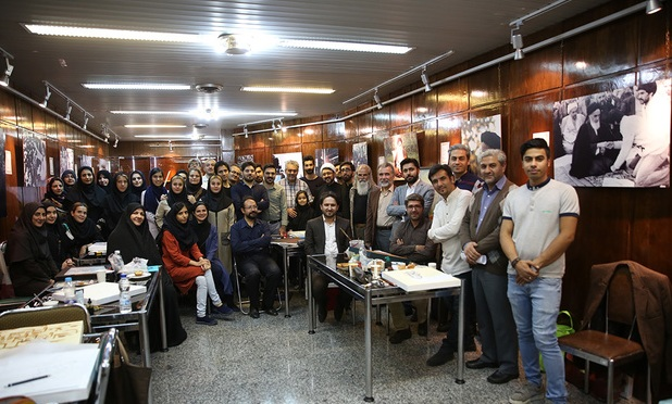 40 artwork on Ashura produced during an artists gathering at Imam Khomeini's gallery in Jamaran