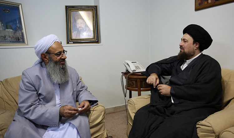 Moulana abdolhamid holds meeting with seyyed Hassan Khomeini