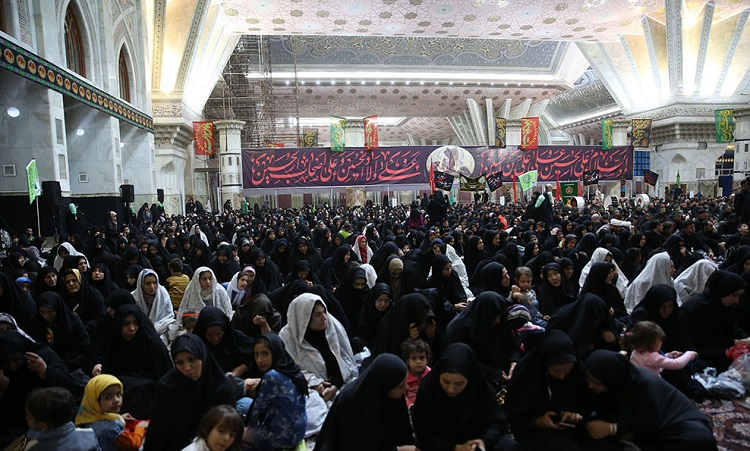 A ceremony on Arba'een`s night at Imam Khomeini's mausoleum