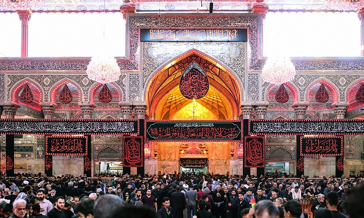 Imam Hossein (PBUH)'s holy shrine on the eve of Arba'een
