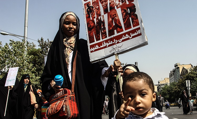 Faithful Iranians stage rally against massacre of Myanmar's Rohigya Muslims