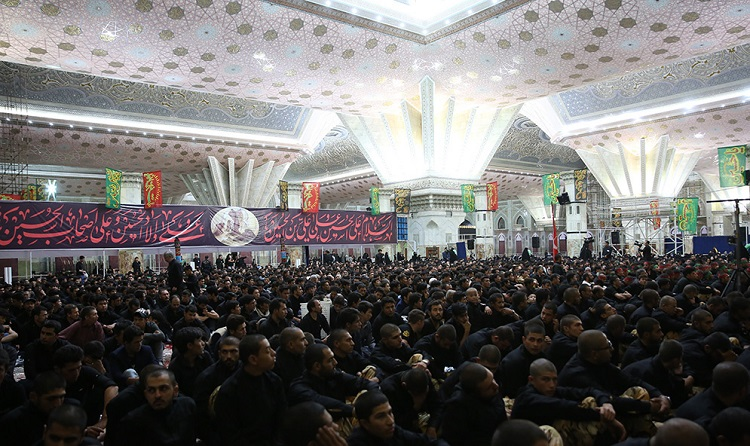 Mourning ceremonies in remembrance of Imam Hussain (PBUH) at Imam Khomeini's holy shrine
