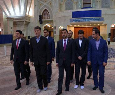 Iraqi minister visits Imam Khomeini's holy mausoleum Iraqi minister visits Imam Khomeini's holy mausoleum