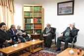 Families of late Ayatollah Hashemi Rafsanjani meet with senior clerics and religious authorities