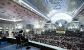 Supreme leader in 28th anniversary ceremony at  Imam Khomeini mausoleum