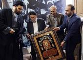A memorial ceremony for Hajj Isa, a domestic servant at  Imam Khomeini's historic residence in Qom