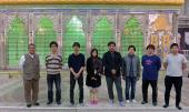 A team of Japanese Robotics industry paying tribute to the founder of Islamic Republic
